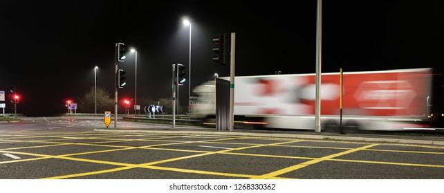 Juntion 16  M4  Motorway Swindon at night