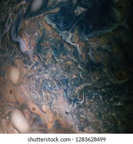 Jupiter atmosphere background. Elements of this image furnished by NASA.