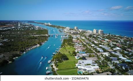 Jupiter Florida Aerial North View