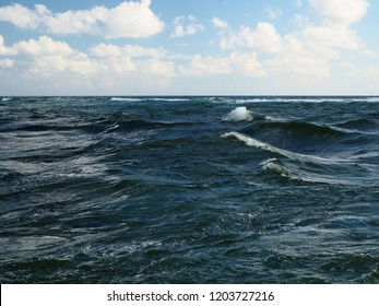 Jupiter Florida Inlet and Rough Sea