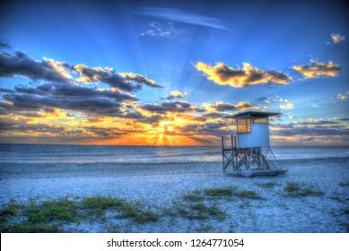 Jupiter Florida Lifeguard Station Sunrise
