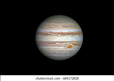 Jupiter planet, isolated on black.Elements of this image are furnished by NASA.