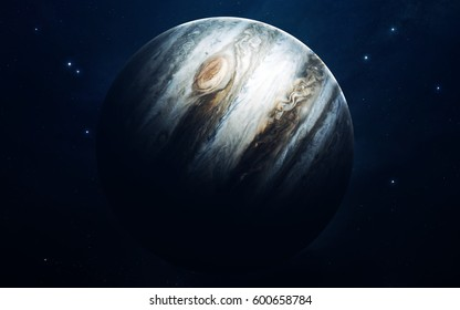 Jupiter - planets of the Solar system in high quality. Science wallpaper. Elements furnished by NASA