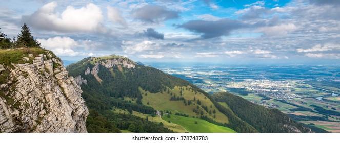 Jura mountains view Grenchenberg