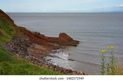 jurassic coast headland looking out to sea