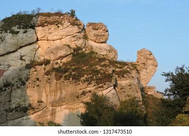 The  Jurassic limestone rocks in the Polish Jurassic Highland