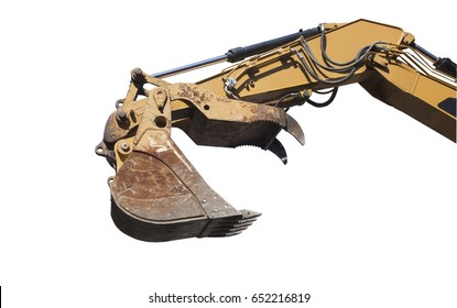 Jurassic metal monster excavator claw. Isolated.
