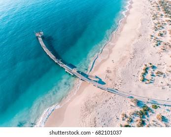 Jurien Bay Jetty, Western Australia. Aerial Photography