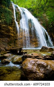 Jur-Jur the most full-flowing waterfall of Crimea, located on the territory of Alushta region