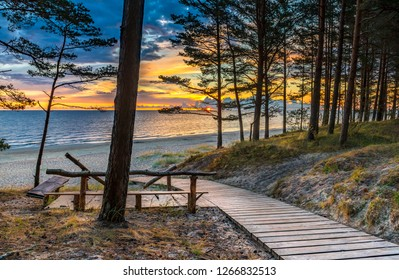 Jurmala is a famous international tourist resort at Riga gulf of the Baltic Sea and lovely recreation place in Latvia, EC