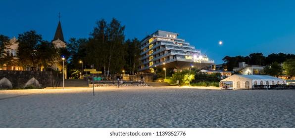 JURMALA, LATVIA - JULY 21, 2018: Jurmala is a famous international resort and recreation city in Baltic region, Europe, Latvia