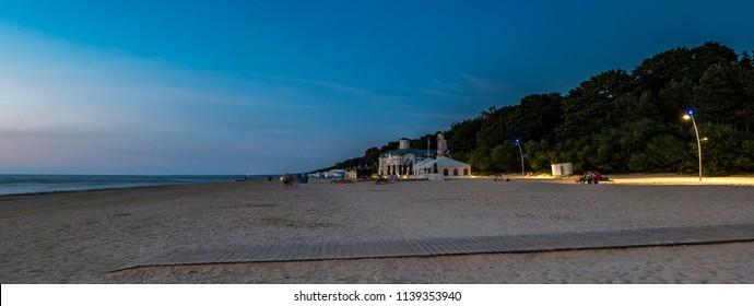 Jurmala, Latvia - July 21, 2018: Jurmala is a famous international resort and recreation city in Baltic region, located on Riga gulf of the Baltic Sea, EC, Europe