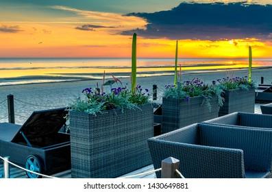 Jurmala, Latvia - June 20, 2019: Summer morning in Jurmala - famous city of Baltic international tourist resort in Latvia, EC