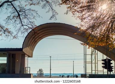 Jurmala, Latvia - October 16, 2018: Building of railroad station in Dubulti, Jurmala, Latvia, Europe