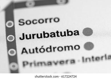 Jurubatuba Station. Sao Paolo Metro map.