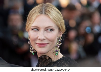 Jury president Cate Blanchett attends the screening of 'Everybody Knows and  opening gala during the 71st annual Cannes Film Festival at Palais des Festivals on May 8, 2018 in Cannes, France.