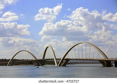 Juscelino Kubitschek bridge in  brasilia city capital of brazil
