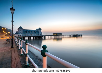 Just before dawn at Penarth Pier near Cardiff on the south coast of Wales