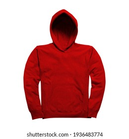 Just drop your image into this Front View Fabulous Hoodie Mockup In Fiery Red Color, and your design is ready to go.