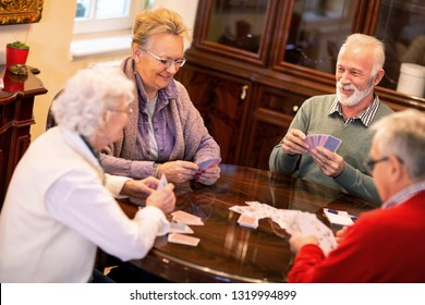 Just a friendly card game between old friends to make time pass