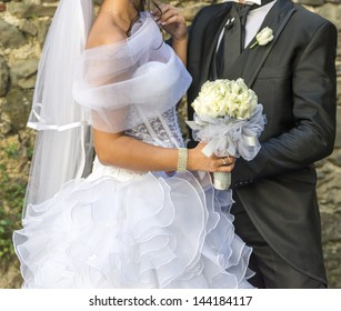 just married bridal couple