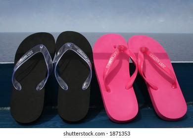 just married flip-flops