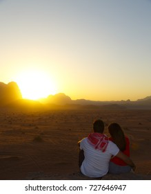 Just married in Wadi Rum desert
