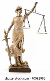 Justice (greek:themis,latin:justitia) blindfolded with scales and sword