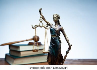 justice lady with judge on book on table