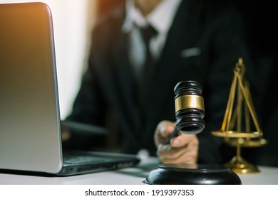justice and law concept.Male judge Consultation and legal concepts, lawyers,