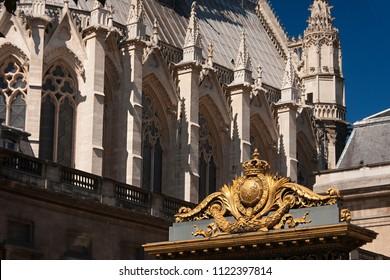 justice palace of Paris entrance and saint chapel