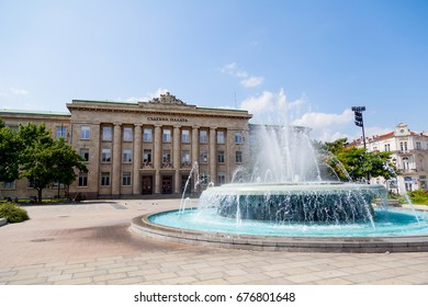 Justice palace in Ruse, Bulgaria on 27 June 2017