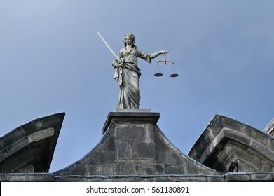 Justice statue at Dublin Castle