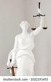 Justice symbol. Femida statue.