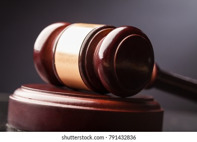 Justice wooden gavel