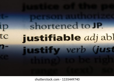 justifiable word in a dictionary. justifiable concept.