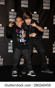 Justin Bieber at the 2010 MTV Video Music Awards held at the Nokia Theatre L.A. Live in Los Angeles on September 12, 2010.