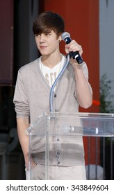 Justin Bieber at the Michael Jackson Hand And Footprint Ceremony held at the Grauman's Chinese Theater, California, United States on January 26, 2012.