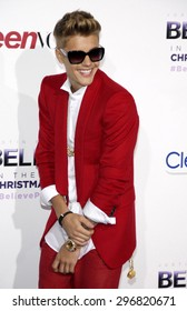 "Justin Bieber at the World premiere of ""Justin Bieber's Believe"" held at the Regal Cinemas L.A. Live in Los Angeles on December 18, 2013 in Los Angeles, California."