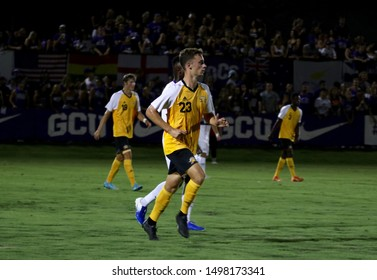 Justin Earle defender for Northern Kentucky University at GCU Soccer Stadium in Phoenix,AZ/USA 0ct. 30,2019.