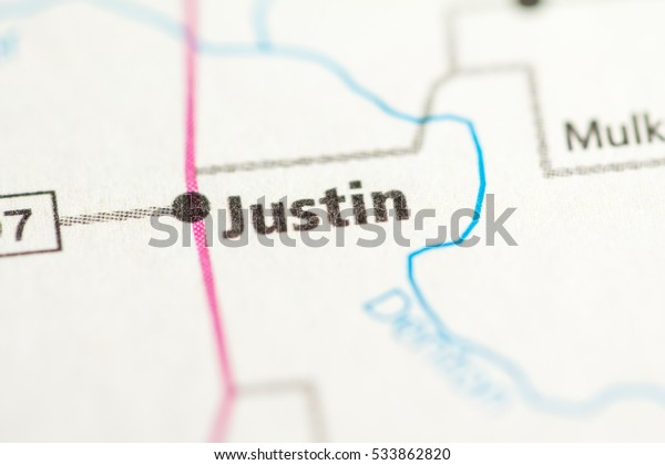 Map Of Justin Texas.Justin Texas Usa Stock Photo Edit Now 533862820