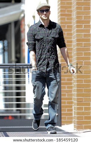 2f9d2de85b7fa Justin Timberlake Enters Tribeca Apartment Out Stock Photo (Edit Now ...