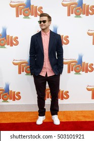 9f2149e66c2da0 Justin Timberlake at the Los Angeles premiere of  Trolls  held at the  Regency Village