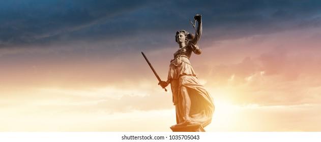 Justitia Figurine Statue - Personification of Justice