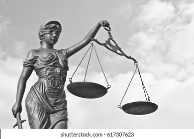 Justitia poetic justice / Justitia is a personification of justice