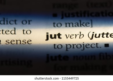 jut word in a dictionary. jut concept.