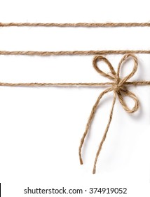 Jute rope bow for packing and decoration