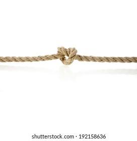 Jute rope isolated on white background