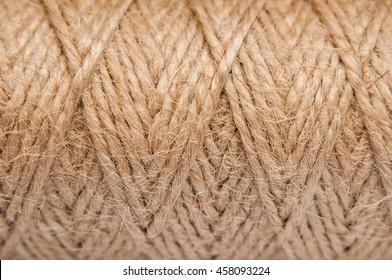 Jute rope. sisal brown natural background