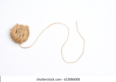 Jute Ropes isolated on white background